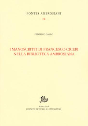 I manoscritti di Francesco Ciceri nella Biblioteca Ambrosiana - Federico Gallo   Rochesterscifianimecon.com