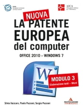 La nuova patente europea del computer. Office 2010 - Windows 7 (3)