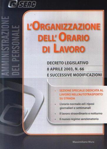L'organizzazione dell'orario di lavoro