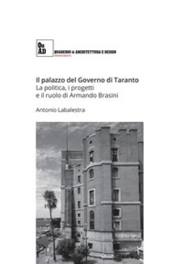 Il palazzo del governo di Taranto. La politica, i progetti e il ruolo di Armando Brasini - Antonio Labalestra | Rochesterscifianimecon.com