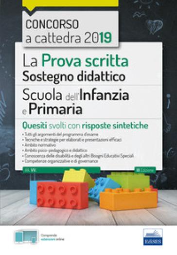 La prova scritta sostegno didattico per la scuola dell'infanzia e primaria -  pdf epub
