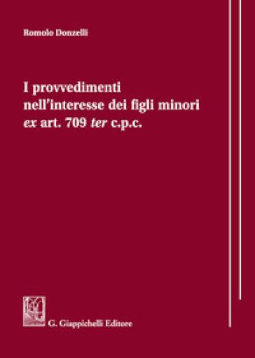 I provvedimenti nell'interesse dei figli minori ex art. 709 ter c.p.c.