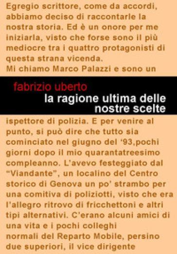 La ragione ultima delle nostre scelte - Fabrizio Uberto |