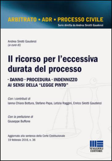 Il ricorso per l'eccessiva durata del processo - A. Sirotti Gaudenzi | Thecosgala.com
