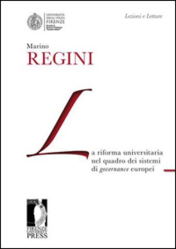 La riforma universitaria nel quadro dei sistemi di governance europei