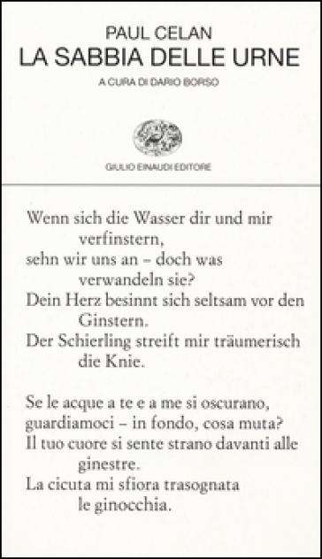 La sabbia delle urne. Testo tedesco a fronte - Paul Celan | Kritjur.org