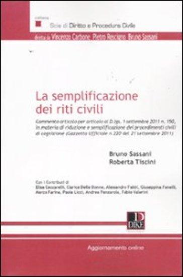 La semplificazione dei riti civili - Roberta Tiscini   Rochesterscifianimecon.com