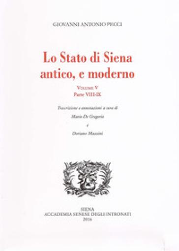 Lo stato di Siena antico e moderno. Parte 8 e 9. 5. - Giovanni Antonio Pecci   Ericsfund.org