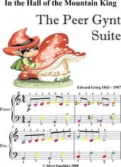 In the Hall of the Mountain King Easy Piano Sheet Music with Colored Notes