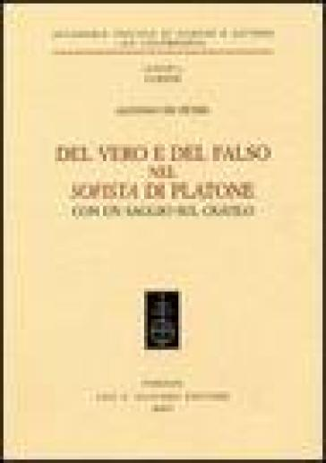 Del vero e del falso nel Sofista di Platone - Alfonso De Petris  